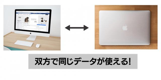 iMacとMacBookを行き来できる